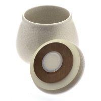Pot à tabac Chacom en céramique craquelé Blanc
