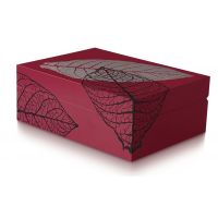Zino humidor Graphic Leaf rouge - 100261