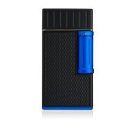 Briquet cigare double flamme Colibri Julius - Black/blue