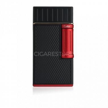 Briquet cigare double flamme Colibri Julius - Black/Red
