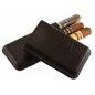 """Étui cigares Davidoff """"XL-3"""" - Lézard brown"""