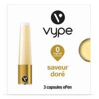 Capsules Saveur ePen* Vype - SAVEUR DORÉ (SAVEUR BLOND - 4 niveaux de nicotine)