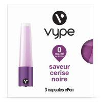 Capsules Saveur ePen* Vype - SAVEUR CERISE NOIRE (4 niveaux de nicotine)