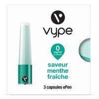 Capsules Saveur ePen* Vype - SAVEUR MENTHE FRAICHE (4 niveaux de nicotine)