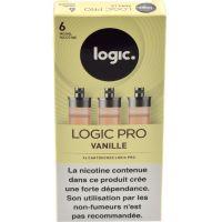 Cartouches Logic.Pro - Vanille (2 niveaux de nicotine )