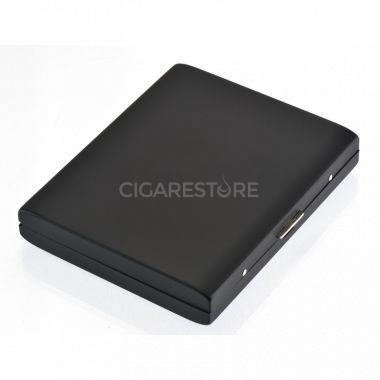 Etui à cigarettes métalique Pearl noir - 24069