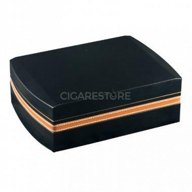 Cave cigares set noir  / liseret cuir - Réf : 8280