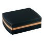 Humidor set noir/liseret cuir
