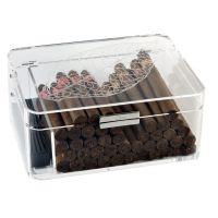 Cave cigares Zino Acrylique Feuille de Tabac : 60 cigares