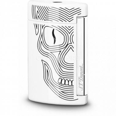 """Nouveau briquet S.T. Dupont """"MINI JET"""" White Skull - 010512"""