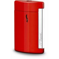 "Briquet gaz S.T. Dupont ""Mini Jet"" - Chromé / Red"