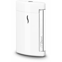 "Briquet gaz S.T. Dupont ""Mini Jet"" - Chromé / White"