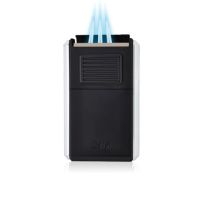 Briquet cigare triple flamme Colibri Astroria III - Black/Chromé
