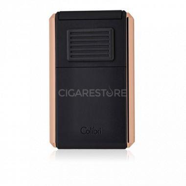 Briquet cigare triple flamme Colibri Astroria III - Black/Rose Gold