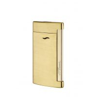 "Briquets S.T. Dupont ""SLIM 7"" Golden Brushed 027711"