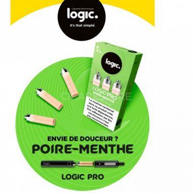 Cartouches Logic.Pro - Poire Menthe(1 niveau de nicotine)