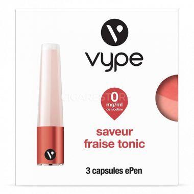 Capsules Saveur ePen* Vype - SAVEUR Fraise Tonic ( 3 niveaux de nicotine)