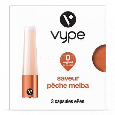 Capsules Saveur ePen* Vype - SAVEUR Pêche Melba ( 3 niveaux de nicotine)