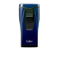 Briquet chalumeaux COLIBRI Monaco blue carbon fiber - 11548