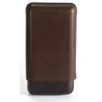 "Étui cigares Davidoff en cuir ""XL-3"" - brown leaf"