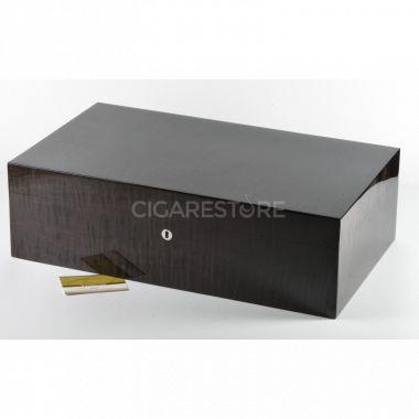 Cave à cigares Victor Sicomore frisé nero - 124 cigares