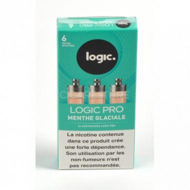 Cartouches Logic.Pro - Menthe glaciale (2 niveaux de nicotine)