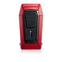Briquet cigare triple flamme Colibri Quantum - Red/Black