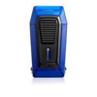 Briquet cigare triple flamme Colibri Quantum - Blue/Black