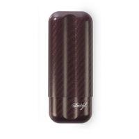 "Etui cigares Davidoff ""XL-2"" en fibre de carbone - rouge"