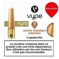 CAPSULES VPRO CLASSIQUE SÉLECTION, aux sels de nicotine