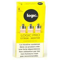 Cartouches Logic.Pro - Citron Menthe (2 niveaux de nicotine)