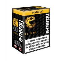 E-liquide e-nergy MANGUE 8mg/ml (pack 2 flacons)