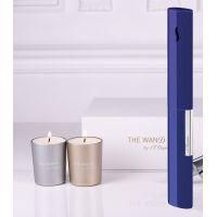 Briquet de table The Wand bleu/chrome + bougies S.T. DUPONT