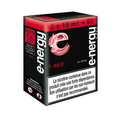E-liquide e-nergy T Red 16 (pack 2 flacons)