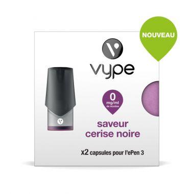Pods SAVEUR Vype EPEN 3 CERISE NOIRE(4 niveaux de nicotine)