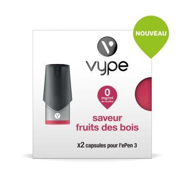 Pods SAVEUR Vype EPEN 3 FRUITS DES BOIS(4 niveaux de nicotine)