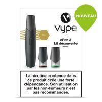 Kit découverte ePen Vype 3 noire (cigarette à pods)