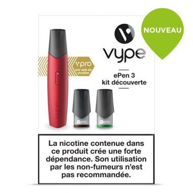 Kit découverte ePen 3 rouge (cigarette à pods)