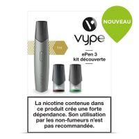 Kit découverte ePen 3 Vype silver (cigarette à pods)