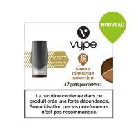 Pods Vype Vpro saveur classique sélection 12mg aux sels de nicotine