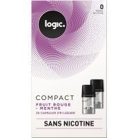Pods Logic Compact fruit rouge menthe 0,6,12mg