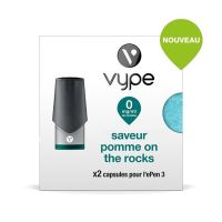 Pods EPEN 3 VYPE - SAVEUR Pomme On The Rocks ( 4 niveaux de nicotine)