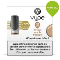 Pods Vype ePen 3 Vpro - Saveur Vanille infusée 12mg aux sels de nicotine