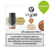 Pods Vype ePen 3 Vpro - Saveur Classique Création 12mg aux sels de nicotine
