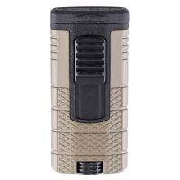 "Briquet cigare triple flamme Xikar ""Tactical"" - Tan/Noir"