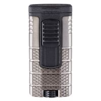"Briquet cigare triple flamme Xikar ""Tactical"" - Gun/Noir"