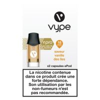 Capsules ePod Saveur Vanille des îles 18mg sels de nicotine
