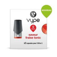 Pods VYPE EPEN 3 VYPE - Saveur Fraise Tonic(2 niveaux de nicotine)