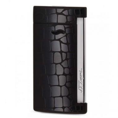 """Briquet cigare S.T. Dupont """"Slim 7"""" - Croco noir"""