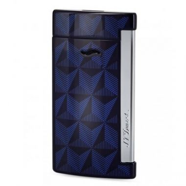 """Briquet cigare S.T. Dupont """"Slim 7"""" Graphic Head - bleu"""